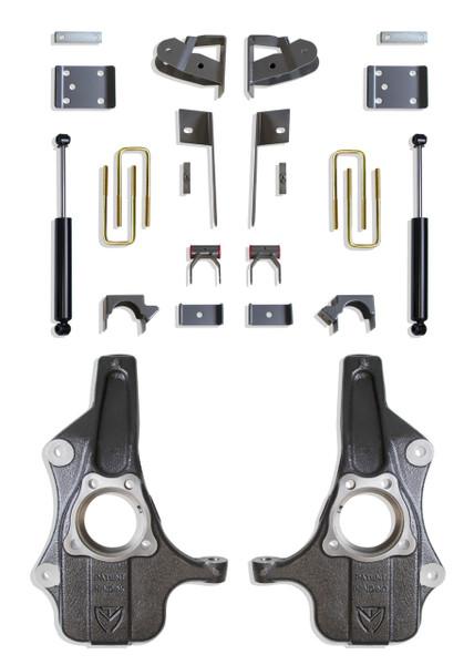 Chevrolet Silverado 1500 2019-2021 Maxtrac Deluxe 2/4 Lowering Kit
