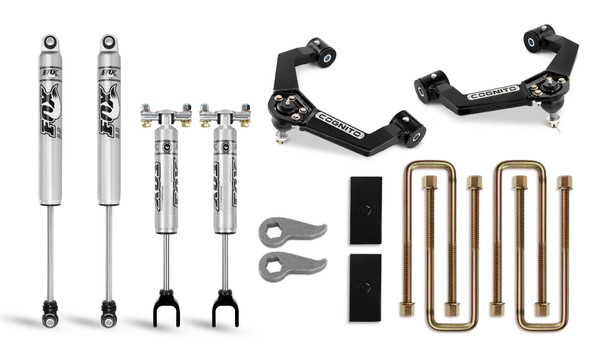Chevy Silverado 2020-21 2500/3500 2WD/4WD Cognito 3-Inch Performance Leveling Lift Kit With Fox PS 2.0 IFP Shocks