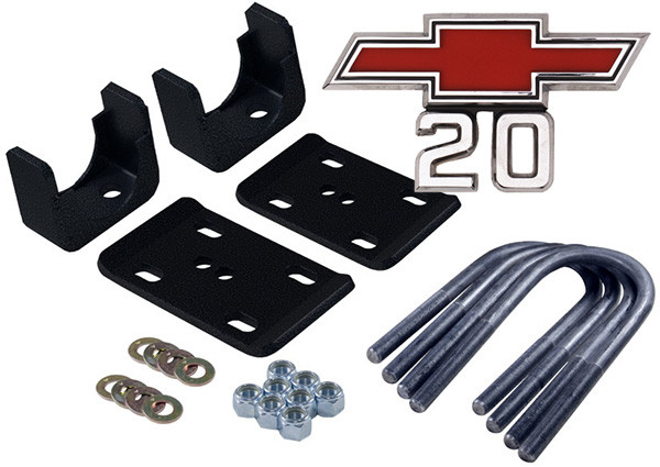 """Chevy/GMC C-20 1967-1972 Western Chassis 6"""" Rear Drop Axle Flip Kit"""