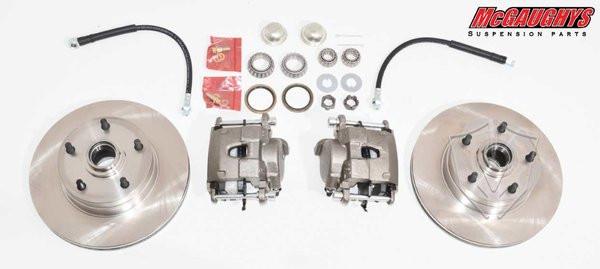 "Chevrolet Fullsize Car 1959-1968 Front Disc Brake Kit For Stock Spindles; 5x4.75"" Bolt Pattern - McGaughys Part# 63201"