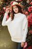 Slouchy Dolman Pullover (White)