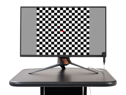 The CRT pattern monitor has been replaced with a high-quality LCD Monitor carefully selected and driven in a manner to clinically eliminate customary flash artifacts common to LCD displays and to maintain the superior performance formally only found in CRTs