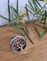 Tree of Life Natural Wood Car Diffuser