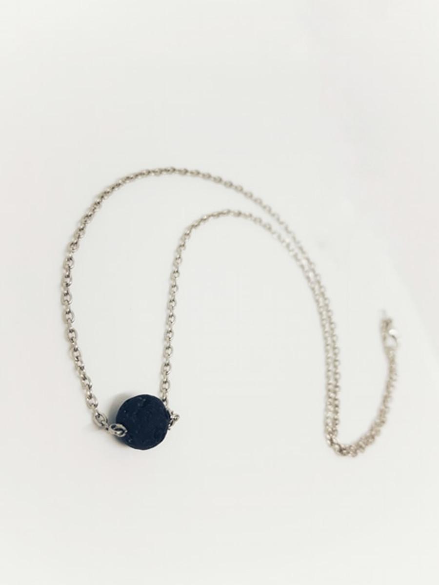 Petite Lava Ball Necklace