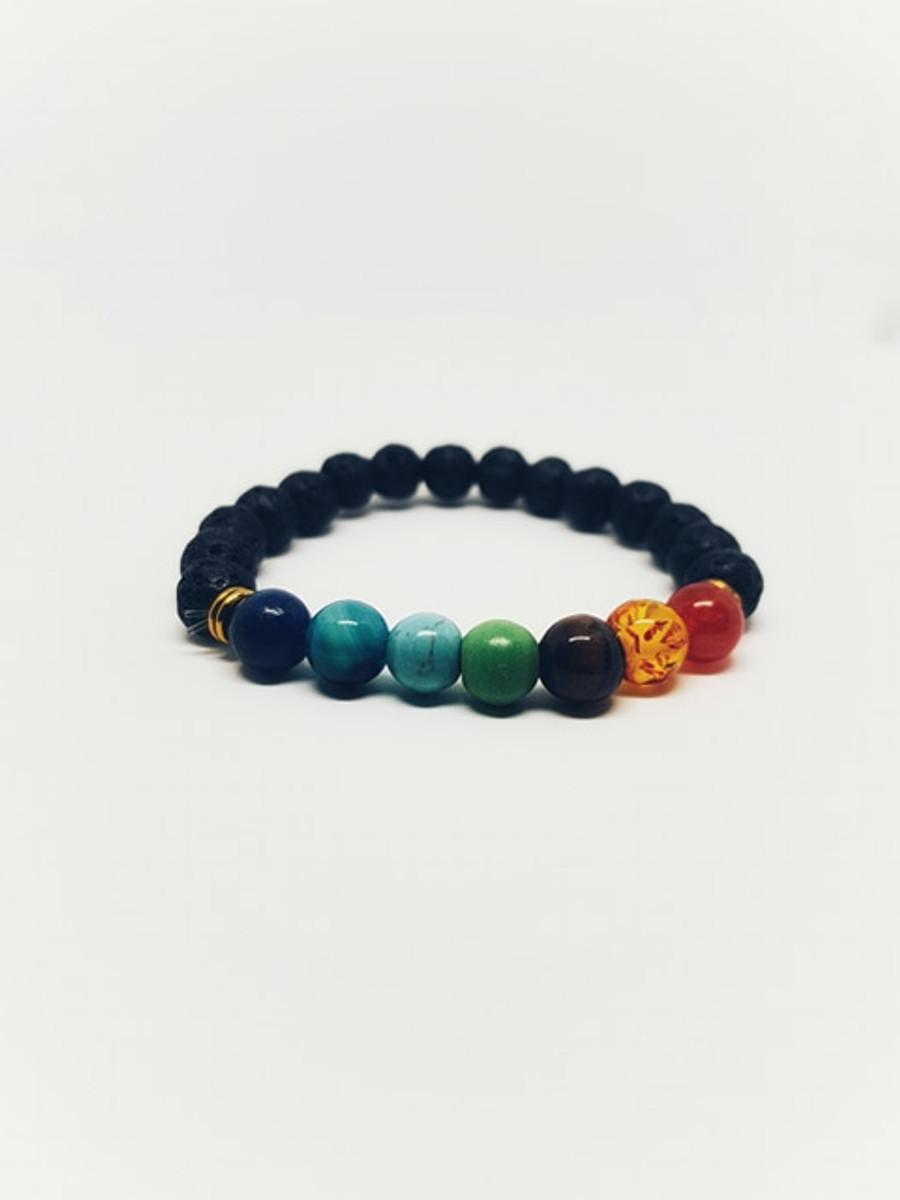 Chakra Lava Stone Healing Bracelet