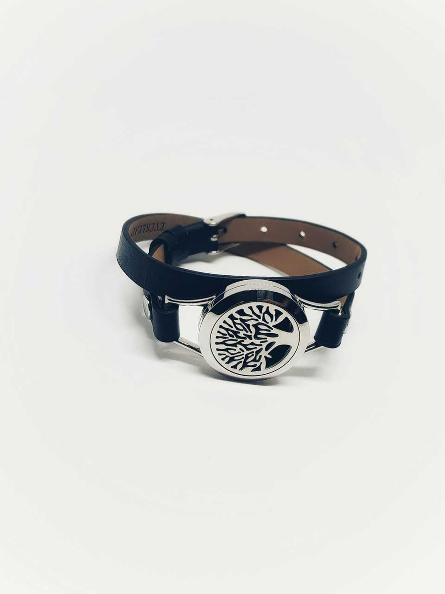 Tree of Life Leather Wristband