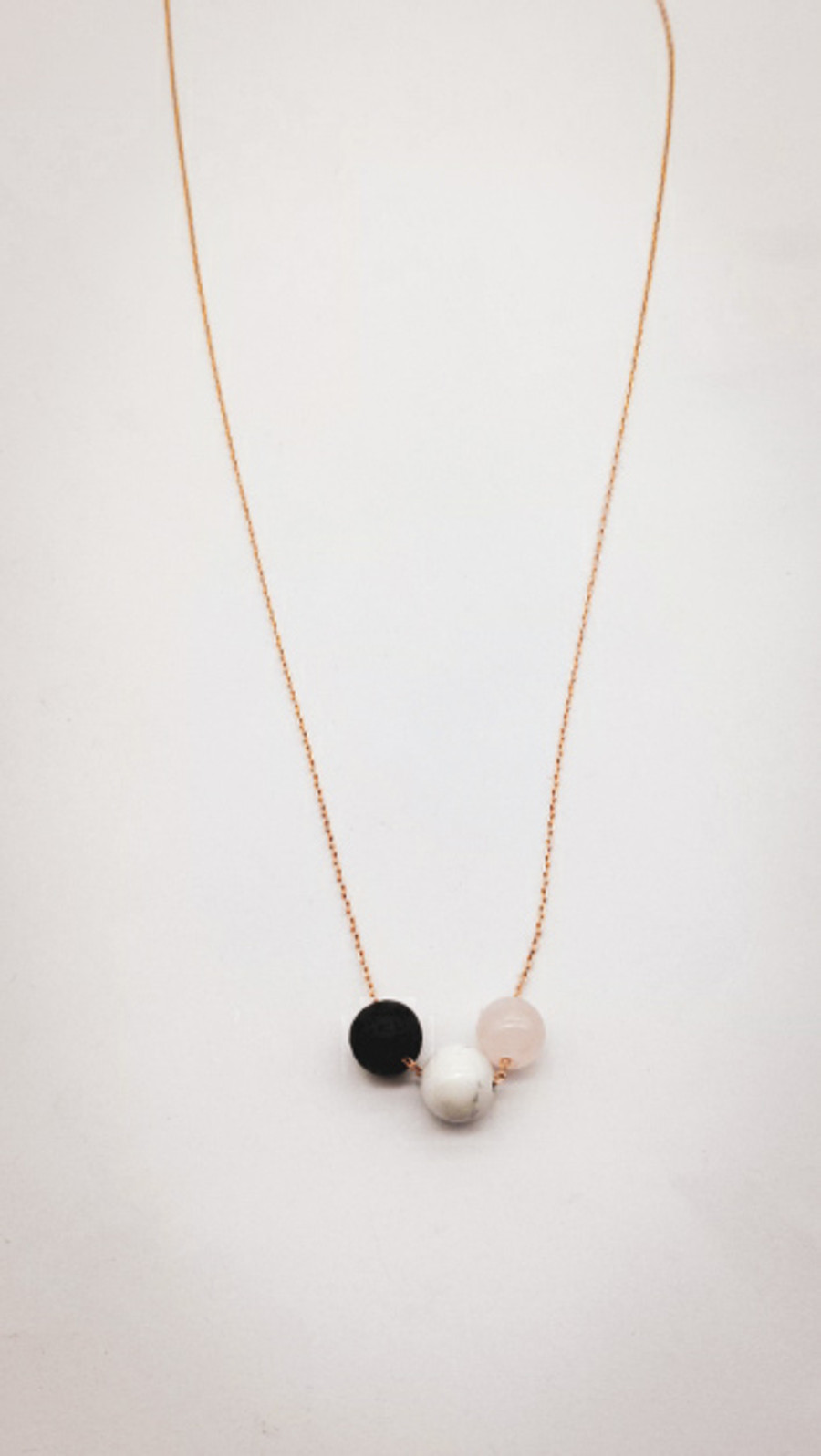 Crystal & Lava Necklace
