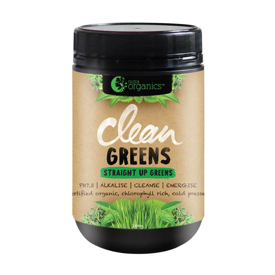 Nutra Organics Clean Greens Powder 200g
