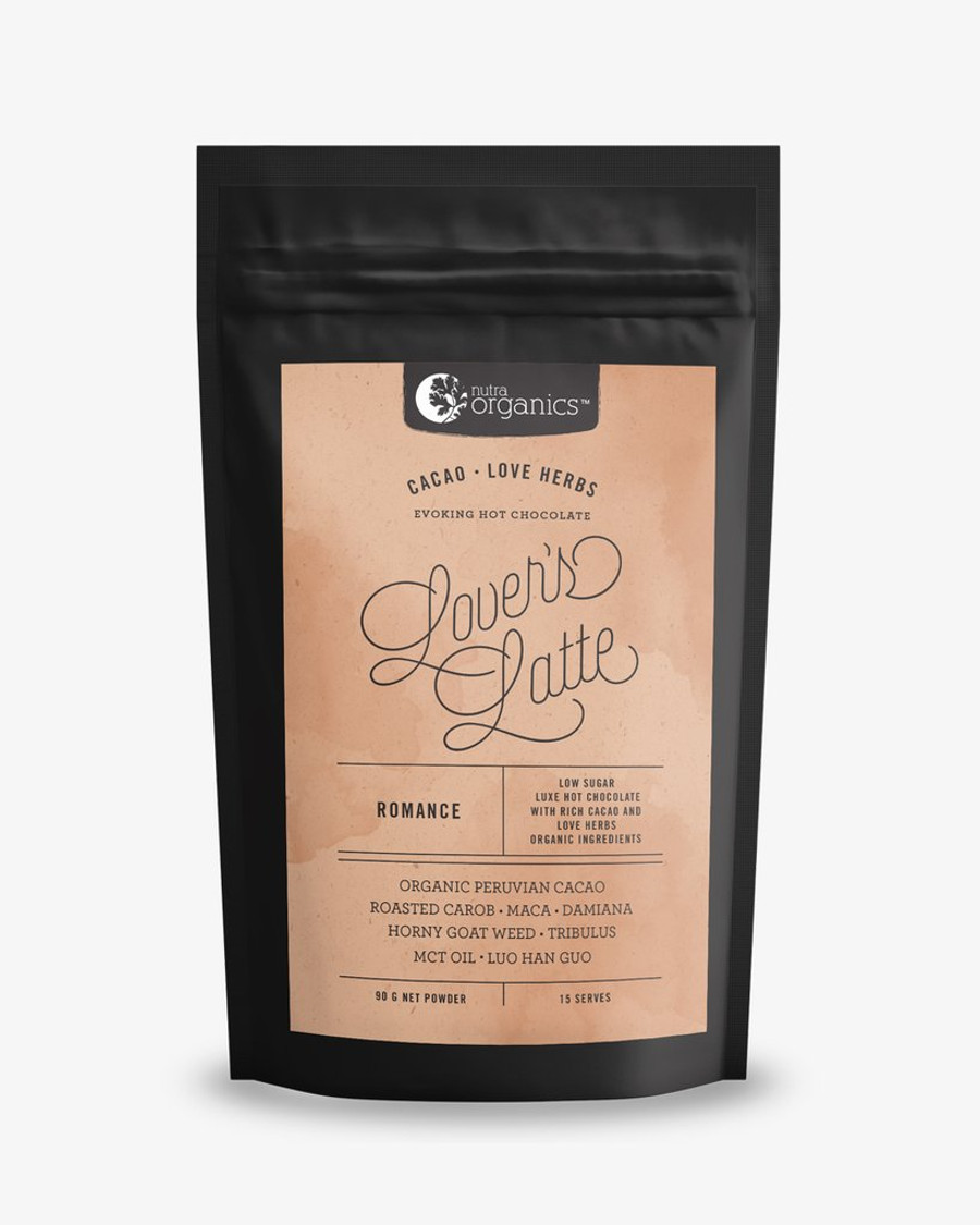 Nutra Organics Lover's Latte (Cacao & Love Herbs - Evoking Hot Chocolate) 90g