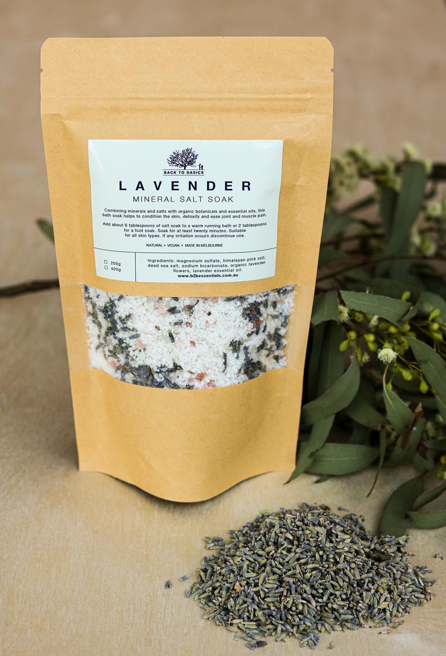 B2B Lavender Mineral Salt Soak