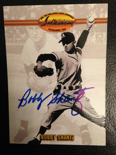 Bobby Shantz Autographed 1993 Ted Williams Card Company #69