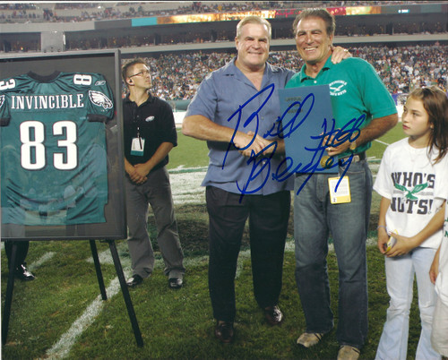 Bill Bergey Autographed Eagles 8 x 10 Photo 2