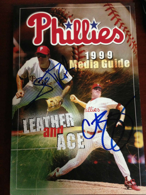 Scott Rolen and Curt Schilling  Autographed 1999 Phillies Media Guide