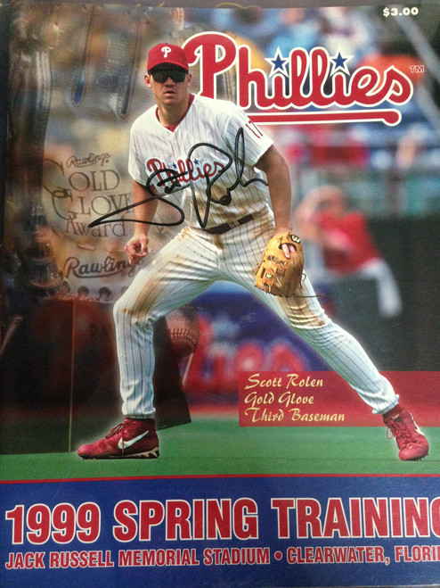 Scott Rolen Autographed 1999 Spring Training Program
