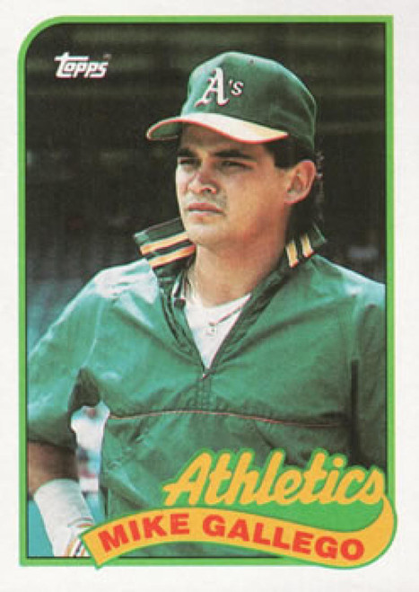 1989 Topps #102 Mike Gallego NM-MT Oakland Athletics