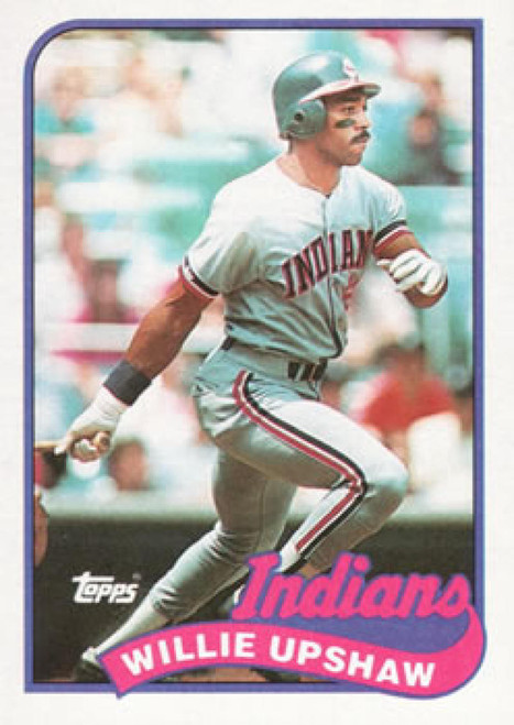 1989 Topps #106 Willie Upshaw NM-MT Cleveland Indians