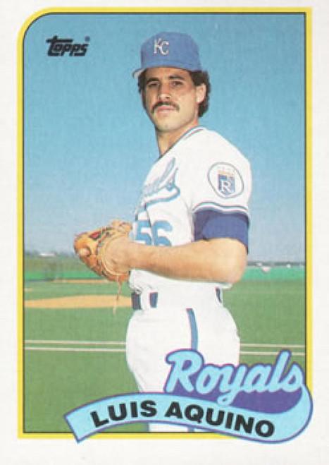 1989 Topps #266 Luis Aquino NM-MT Kansas City Royals