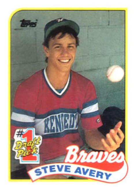 1989 Topps #784 Steve Avery NM-MT RC Rookie Atlanta Braves
