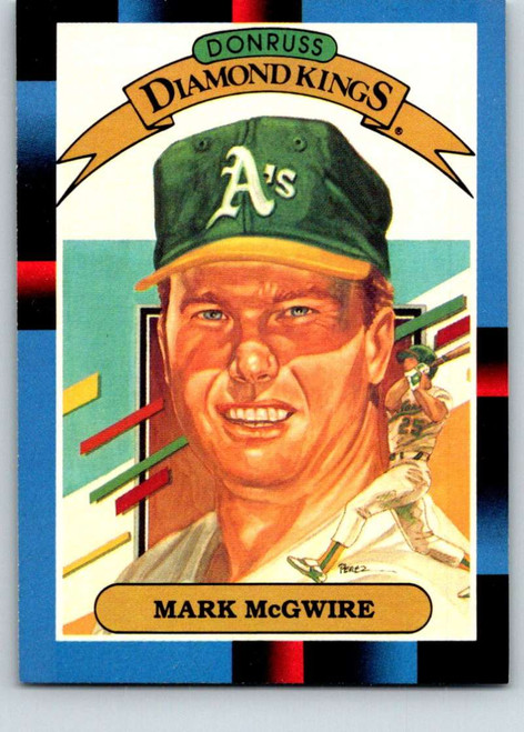 1988 Donruss #1 Mark McGwire DK NM-MT Oakland Athletics