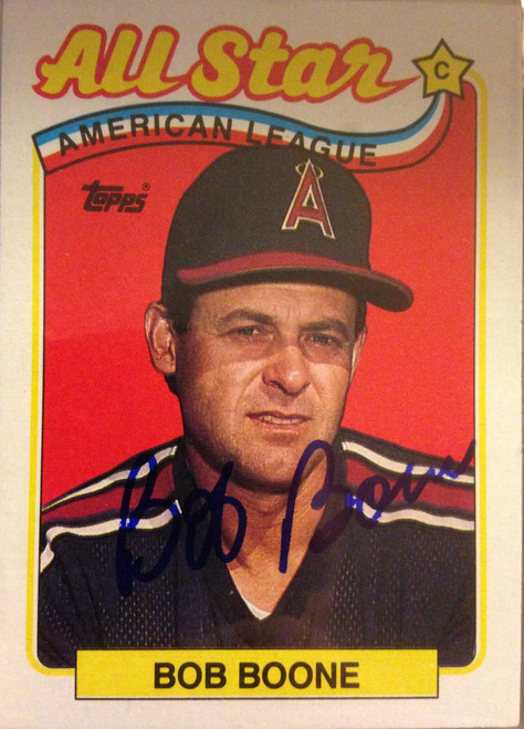 Bob Boone Autographed 1989 Topps #404