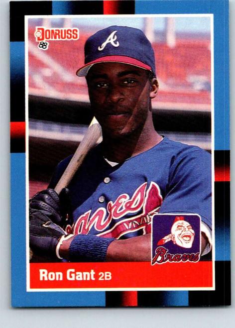 1988 Donruss #654 Ron Gant NM-MT RC Rookie Atlanta Braves