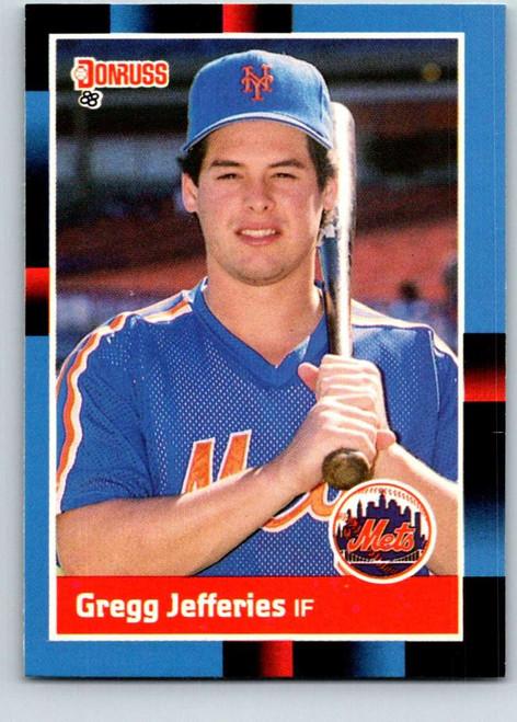 1988 Donruss #657 Gregg Jefferies NM-MT RC Rookie New York Mets