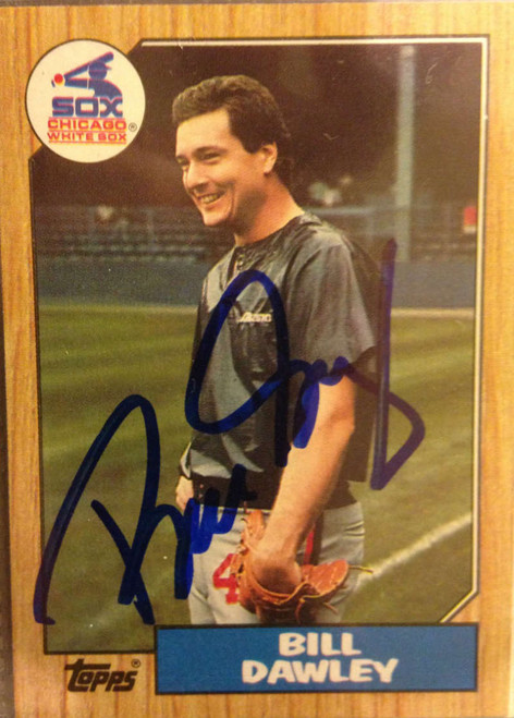 Bill Dawley Autographed 1987 Topps #54