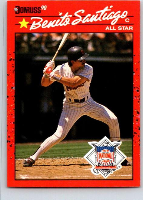 1990 Donruss #708a Benito Santiago AS NM-MT San Diego Padres
