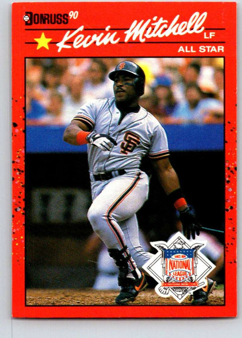 1990 Donruss #715a Kevin Mitchell AS NM-MT San Francisco Giants