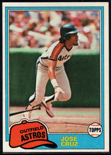 1981 Topps #105 Jose Cruz VG Houston Astros