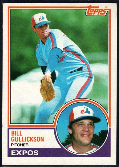 1983 Topps #31 Bill Gullickson VG Montreal Expos