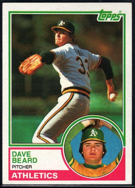 1983 Topps #102 Dave Beard VG Oakland Athletics