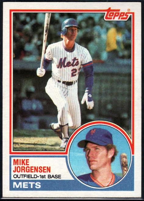 1983 Topps #107 Mike Jorgensen VG New York Mets