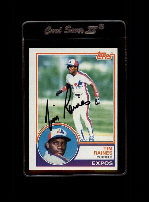1983 Topps #595 Tim Raines VG Montreal Expos