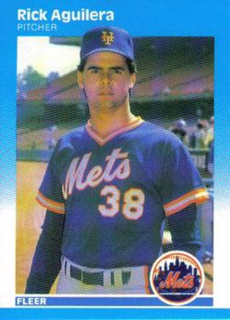 1987 Fleer #1 Rick Aguilera NM New York Mets
