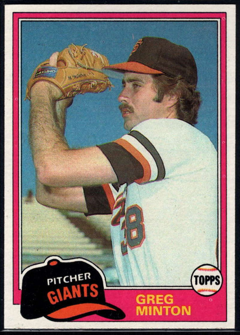 1981 Topps #111 Greg Minton VG San Francisco Giants