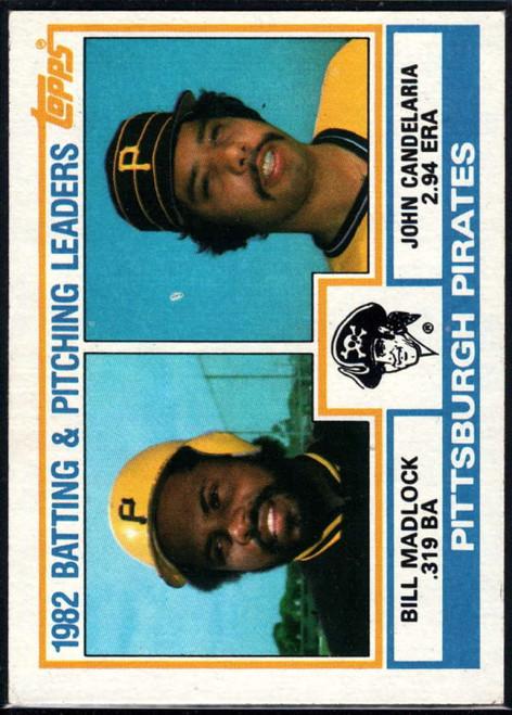 1983 Topps #291 Bill Madlock/John Candelaria Pirates Batting & Pitching Leaders VG Pittsburgh Pirates