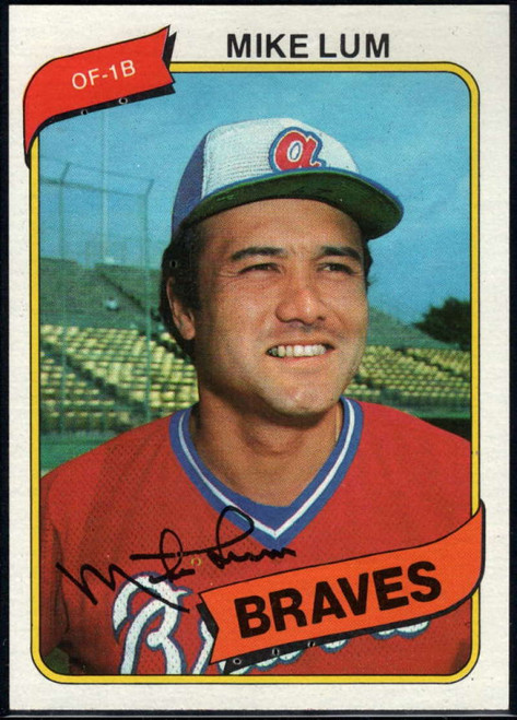 1980 Topps #7 Mike Lum VG Atlanta Braves