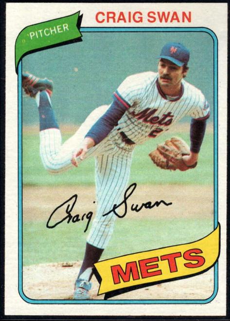 1980 Topps #8 Craig Swan VG New York Mets