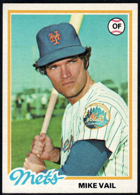1978 Topps #69 Mike Vail VG New York Mets