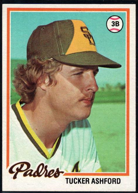 1978 Topps #116 Tucker Ashford COND RC Rookie San Diego Padres