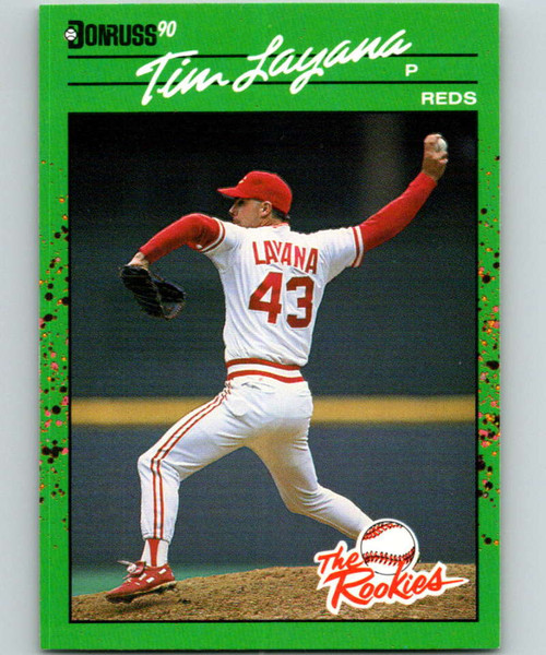 1990 Donruss Rookies #23 Tim Layana VG RC Rookie Cincinnati Reds