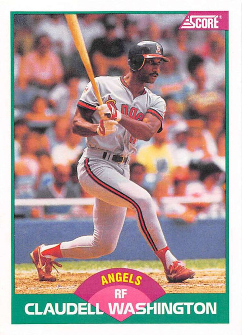 1989 Score Rookie/Traded #10T Claudell Washington VG California Angels
