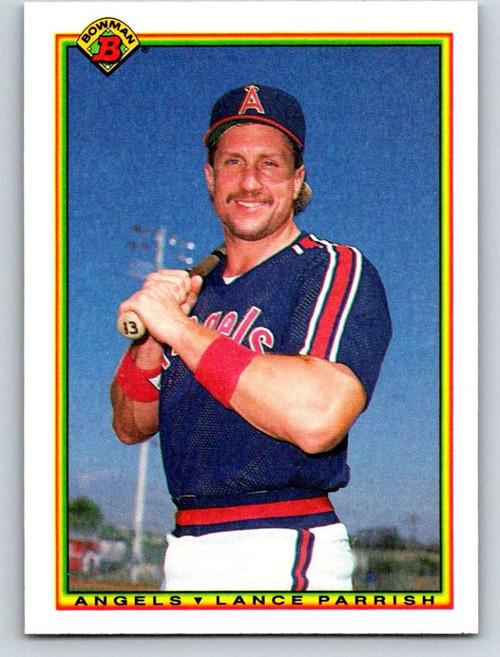 1990 Bowman #295 Lance Parrish VG California Angels