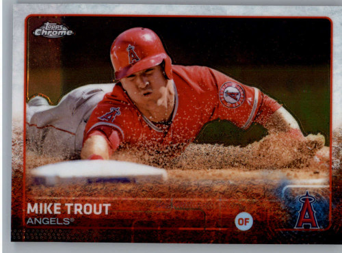 SOLD 48819 2015 Topps Chrome #51 Mike Trout VG Los Angeles Angels
