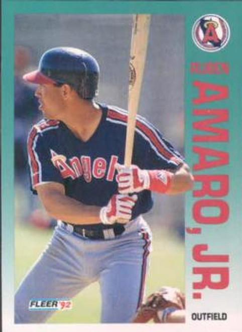 1992 Fleer #52 Ruben Amaro VG California Angels