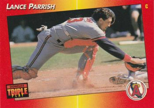 1992 Triple Play #234 Lance Parrish VG California Angels