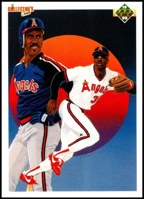 1990 Upper Deck #5 Devon White TC VG California Angels