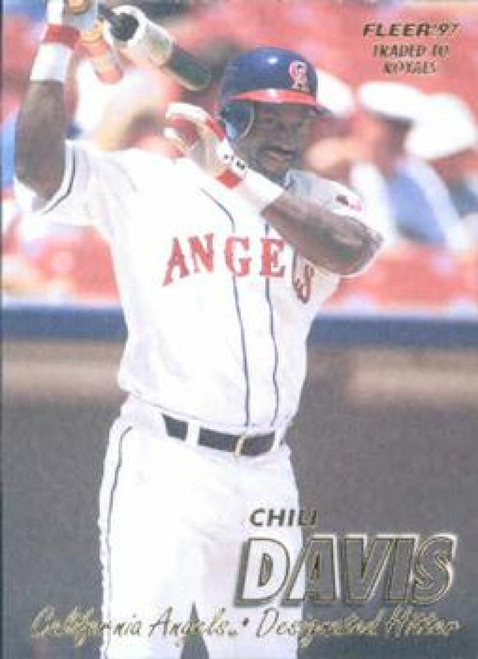 1997 Fleer #37 Chili Davis VG Anaheim Angels
