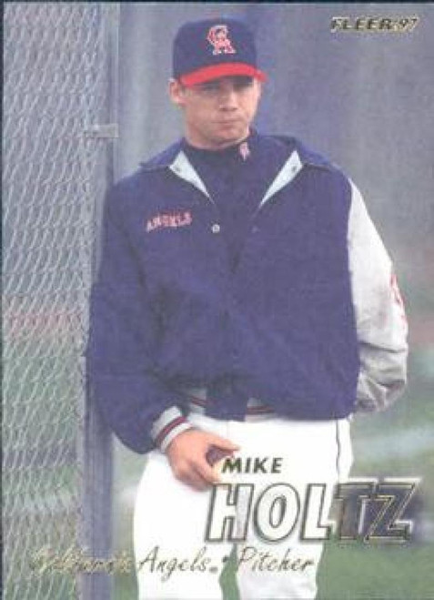 1997 Fleer #45 Mike Holtz VG RC Rookie Anaheim Angels